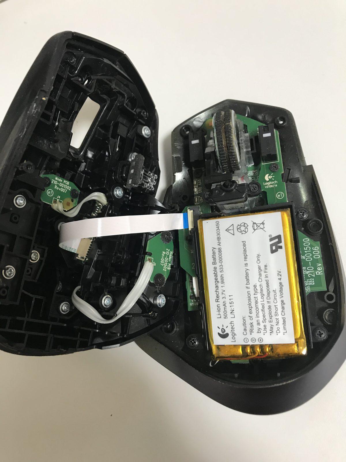 MX Masterのマウスポインタが動かなくなったけど強引に直した